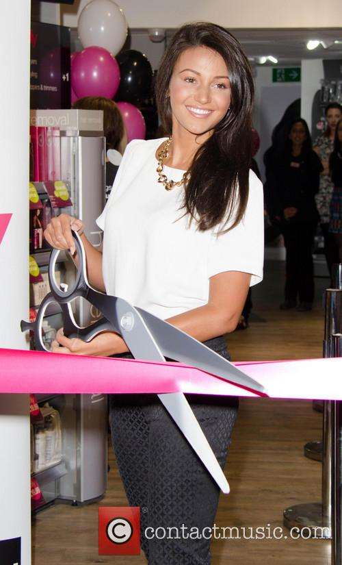 Michelle Keegan opens a new Sally store