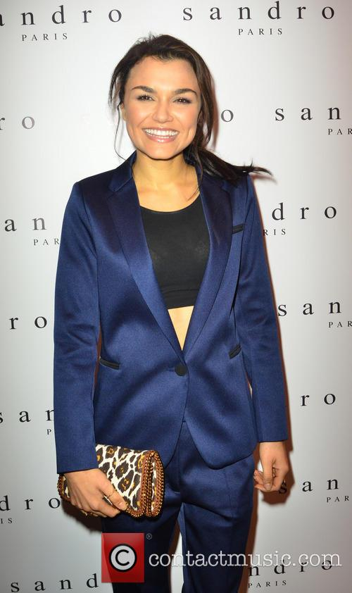 Samantha Barks at the Sandro launch party.