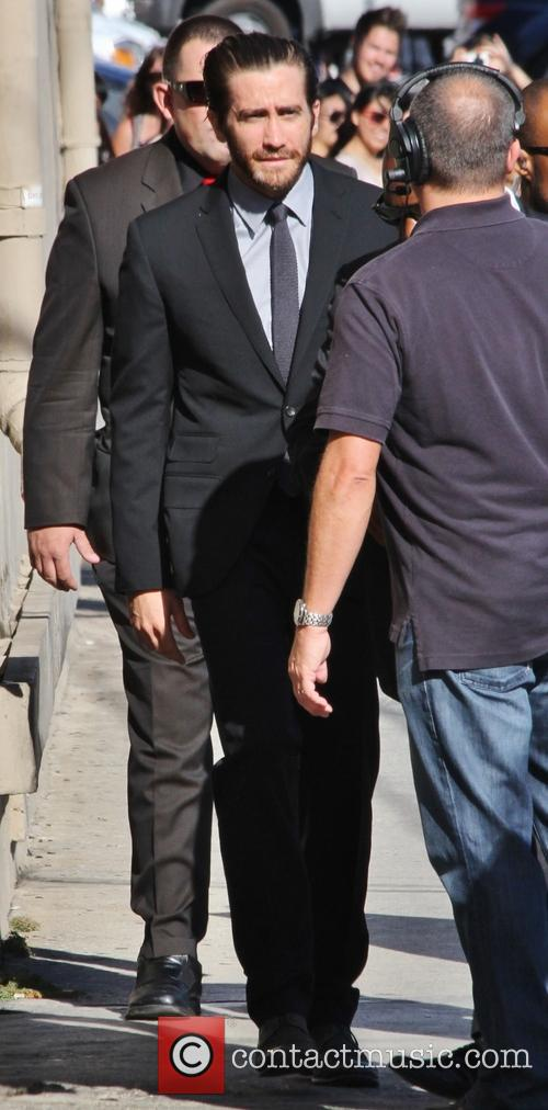 Jake Gyllenhaal outside the Jimmy Kimmel Live studios