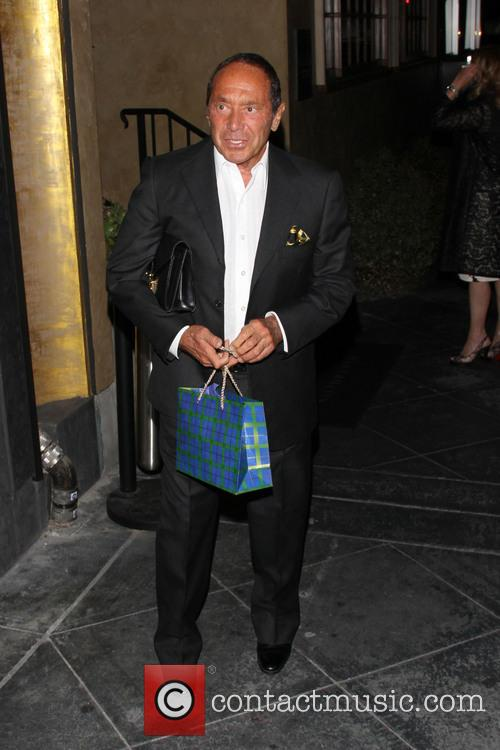 Paul Anka outside Riva Bella restaurant