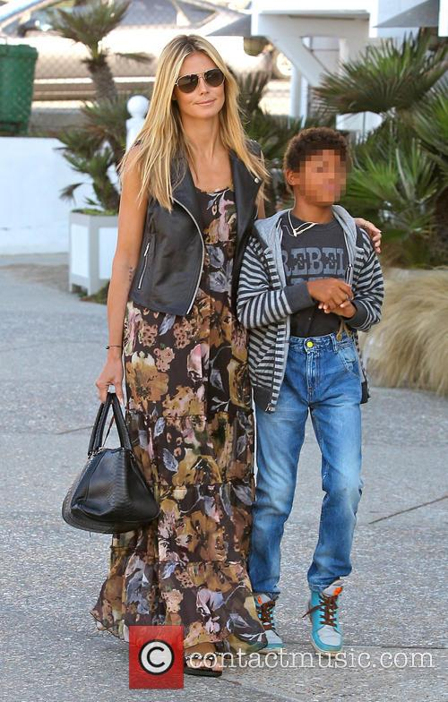Heidi Klum and family go out to breakfast