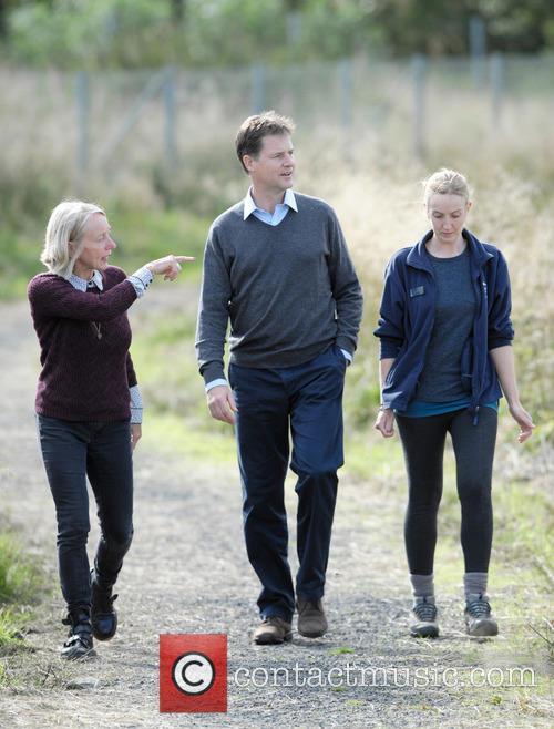 Nick Clegg, Dr Maggie Keegan and Laura Cunningham 7
