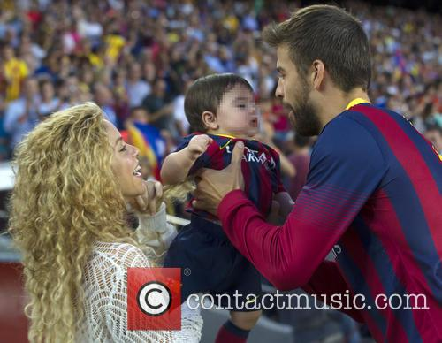 Shakira, Milan Pique Mebarak and Gerard Pique 6