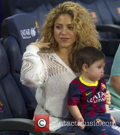 shakira milan pique mebarak shakira and baby son 3866675