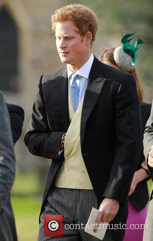 prince harry royals attend gayton wedding 3866229
