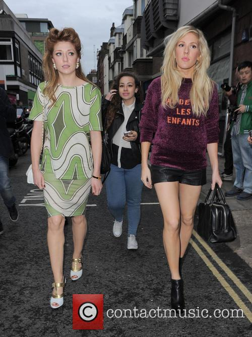 nicola roberts ellie goulding london fashion week ss14 3867251