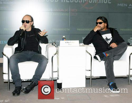 Lars Ulrich and Robert Trujillo 4