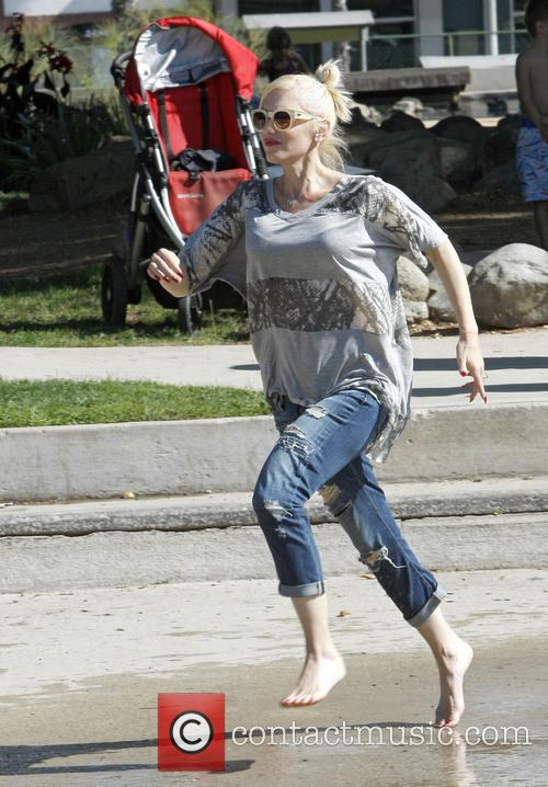 Gwen Stefani spends the day at Douglas Park with her two sons