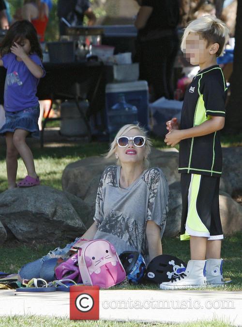 Gwen Stefani spends the day at Douglas Park...