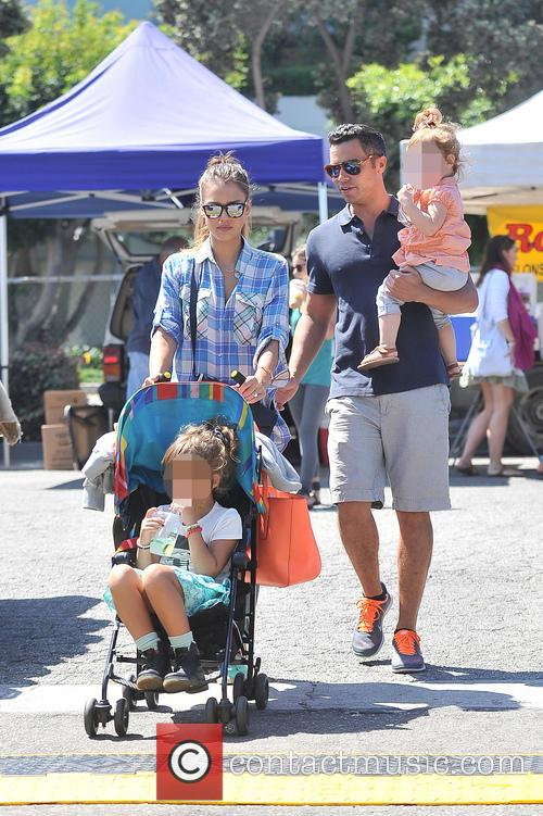 Honor Warren, Jessica Alba, Haven Warren and Cash Warren 1