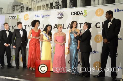 Lance Bass, Joshua Belle, Nina Davuluri, Carla Hall, Deidre Downs Gunn, Barbara Cocoran, Mario Cantone and Amar'e Stoudemire 1