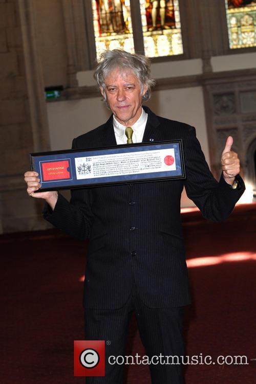 Sir Bob Geldof recieves the Freedom of the...