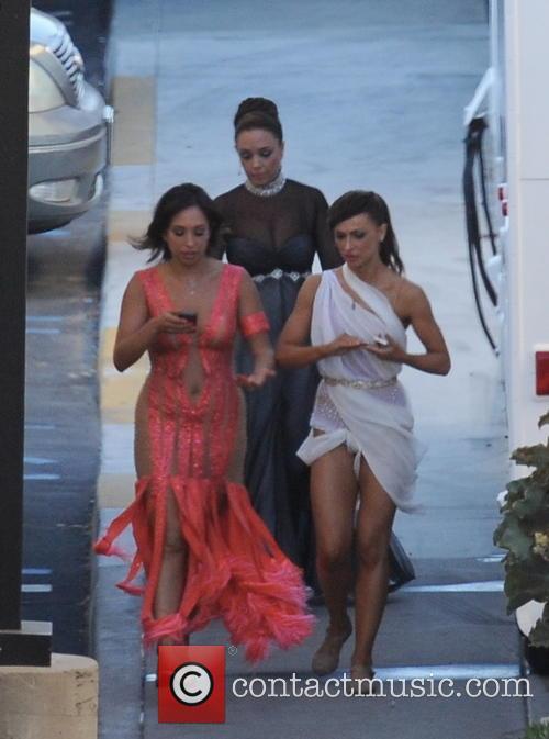 Leah Remini, Cheryl Burke and Karina Smirnoff 2