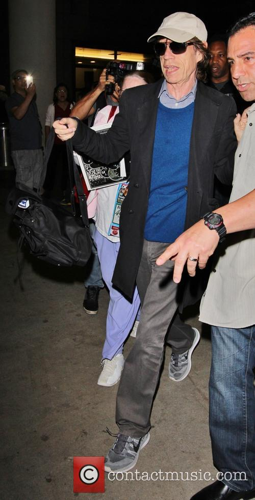 mick jagger celebrities at lax los angeles 3870441
