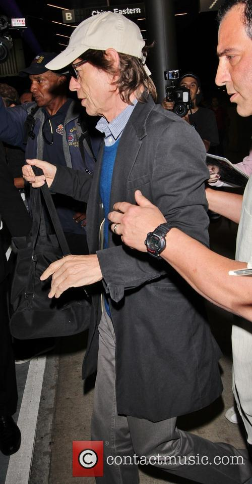 mick jagger celebrities at lax los angeles 3870443