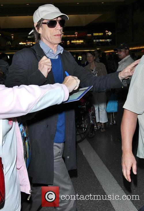 mick jagger celebrities at lax los angeles 3870444