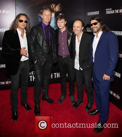 Kirk Hammett, James Hetfield, Dane Dehaan, Lars Ulrich and Robert Trujillo 8