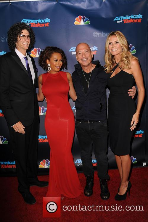 Heidi Klum, Howie Mandel, Melanie Brown and Howard Stern 5