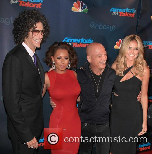 Howard Stern, Mel Brown, Howie Mendel and Heidi Klum 4