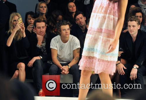 Poppy Delevingne, Nick Grimshaw and Harry Styles 3