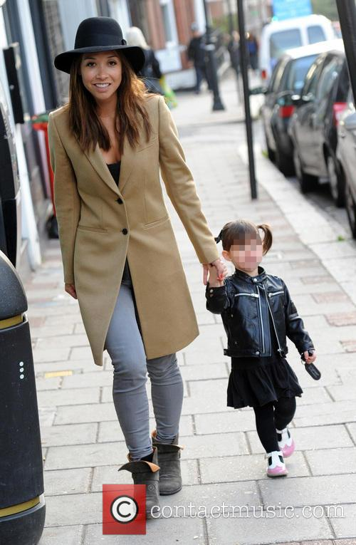 Myleene Klass on the school run with her...
