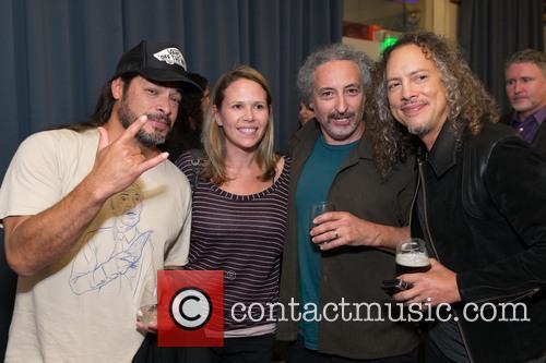 Robert Trujillo, Guest, Mike Borden and Kirk Hammett 2