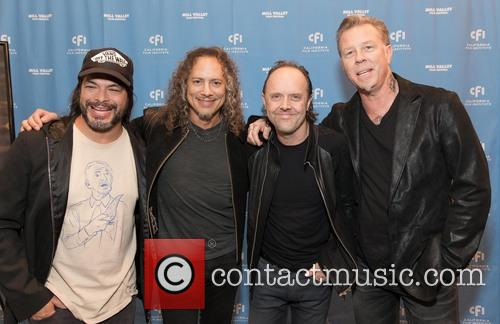 Robert Trujillo, Kirk Hammett, Lars Ulrich, James Hetfield and Metallica