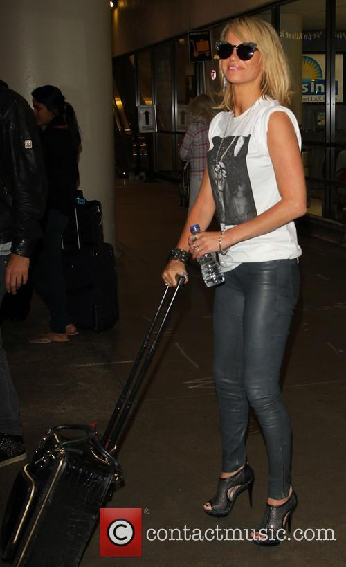 Sarah Harding and boyfriend Mark Foster arrive at LAX Airport