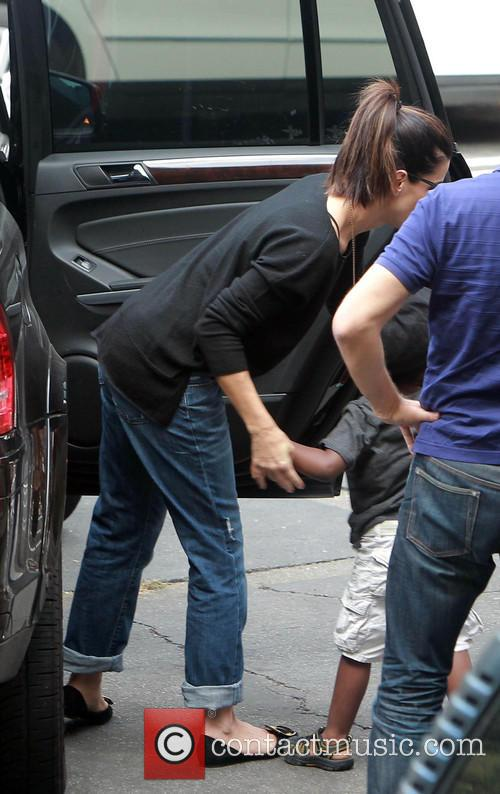 Sandra Bullock and Louis 5