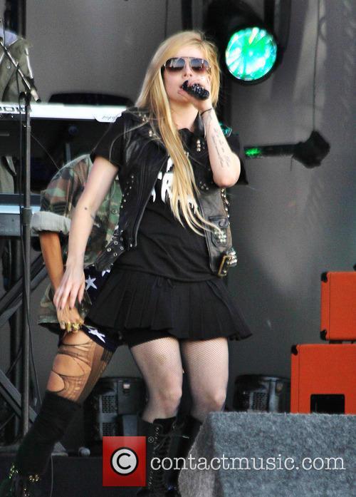 Avril Lavigne performs on Jimmy Kimmel Live!