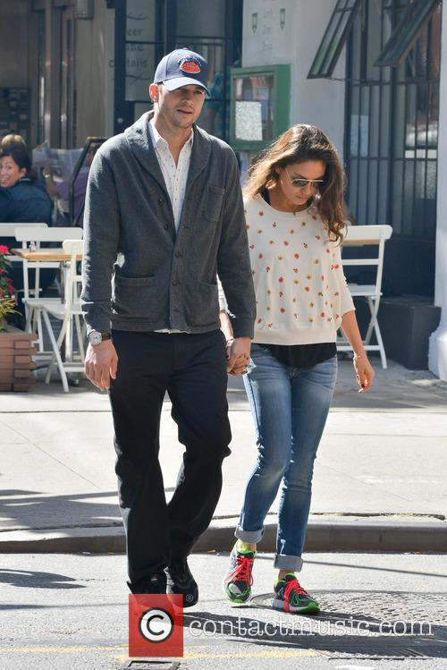 Ashton Kutcher and Mila Kunis in Soho