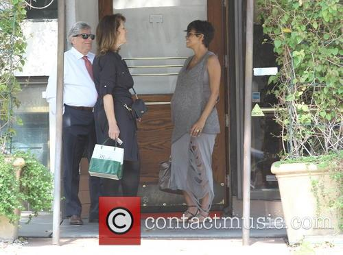 Halle Berry at Madeo restaurant