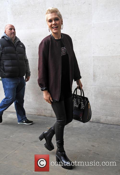 Jessie J arrives at Radio 1