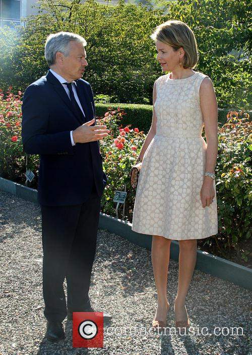 Didier Reynders and Queen Mathilde 2