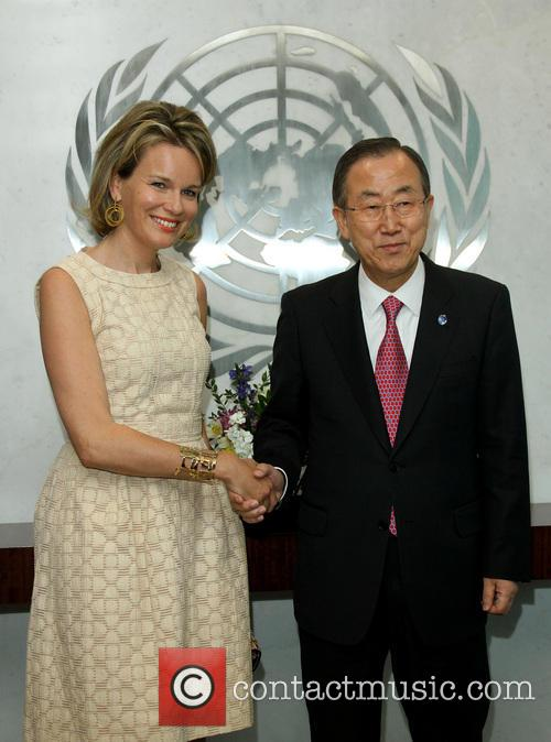 Queen Mathilde and Ban Ki Moon 5