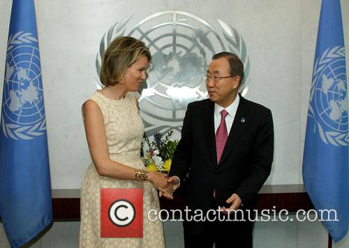 Queen Mathilde and Ban Ki Moon 7