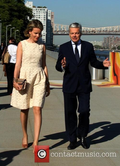 Queen Mathilde and Didier Reynders 8