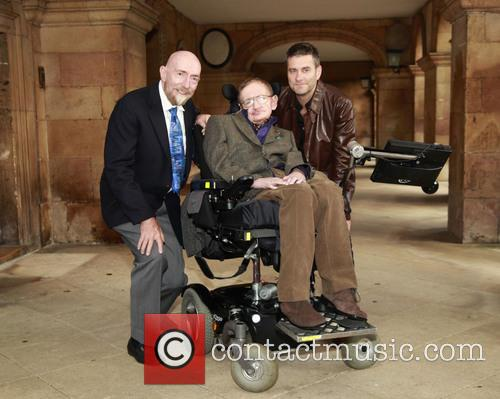 Stephen Hawking, Professor Kip Thorne and Stephen Finnigan 2