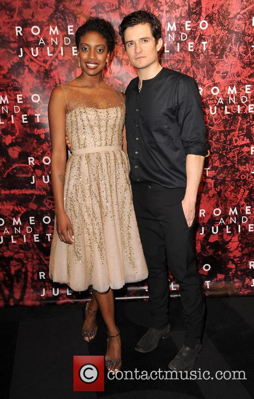 Orlando Bloom and Condola Rashad 6