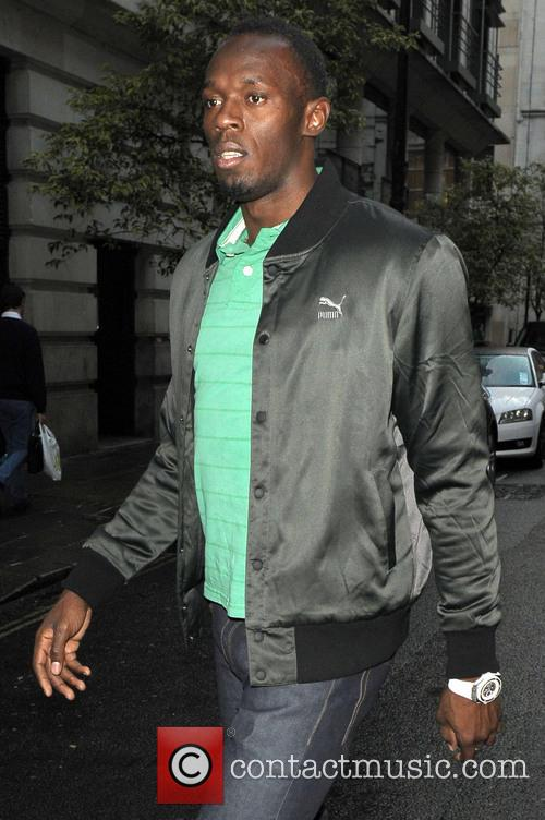 Usain Bolt out and about