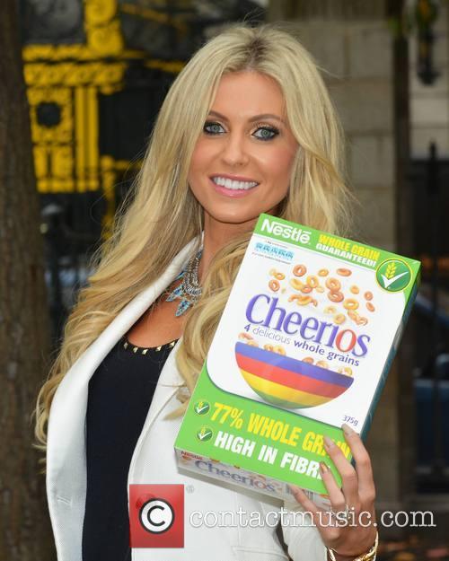 Claudine Palmer promotes Cheerios Childline Breakfast Together Week