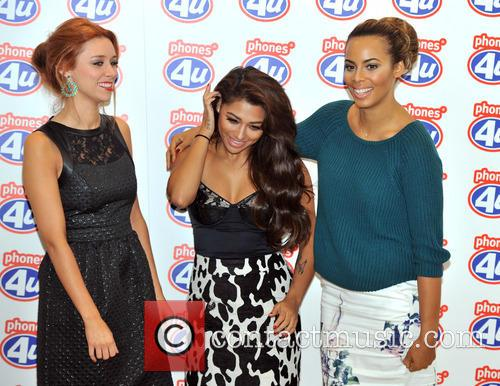 Una Healy, Rochelle Humes and Vanessa White