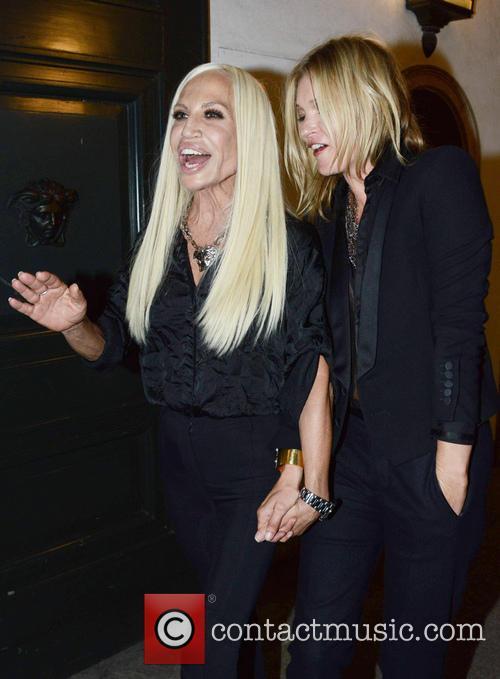 Kate Moss and Donatella Versace 8