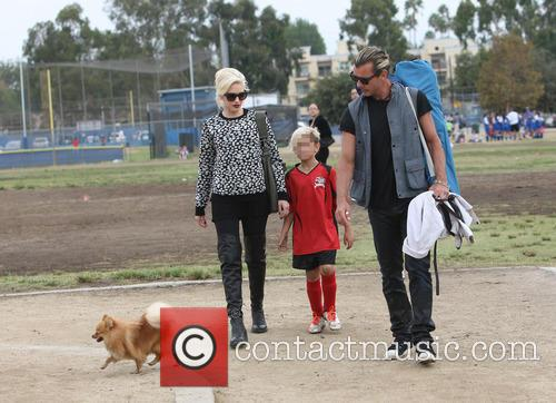 Gwen Stefani, Gavin Rossdale and Kingston Rossdale 2