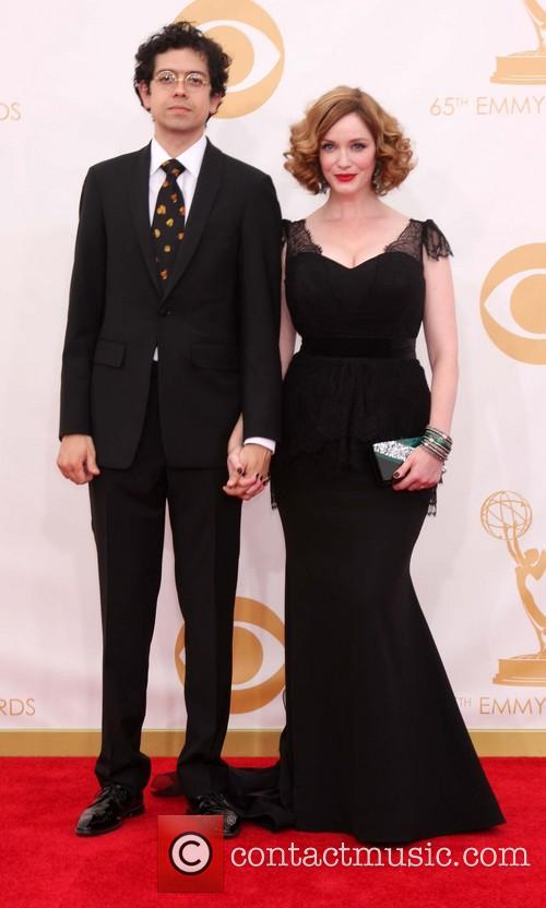 christina hendricks geoffrey arend 65th annual primetime emmy 3877490
