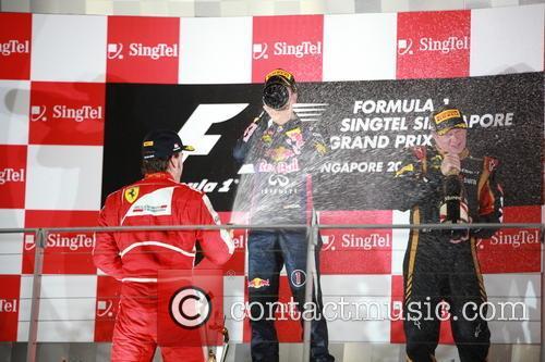 Sebastian Vettel, Fernando Alonso and Kimi Räikkönen 2