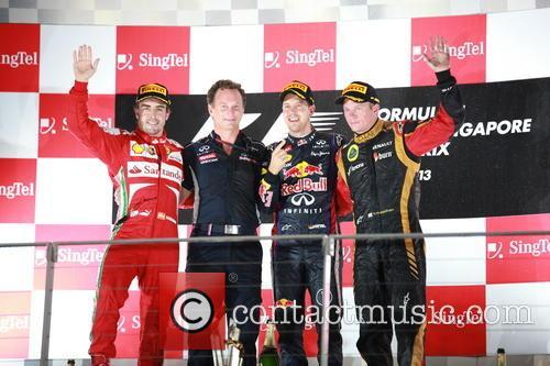 Sebastian Vettel, Fernando Alonso and Kimi Räikkönen 1