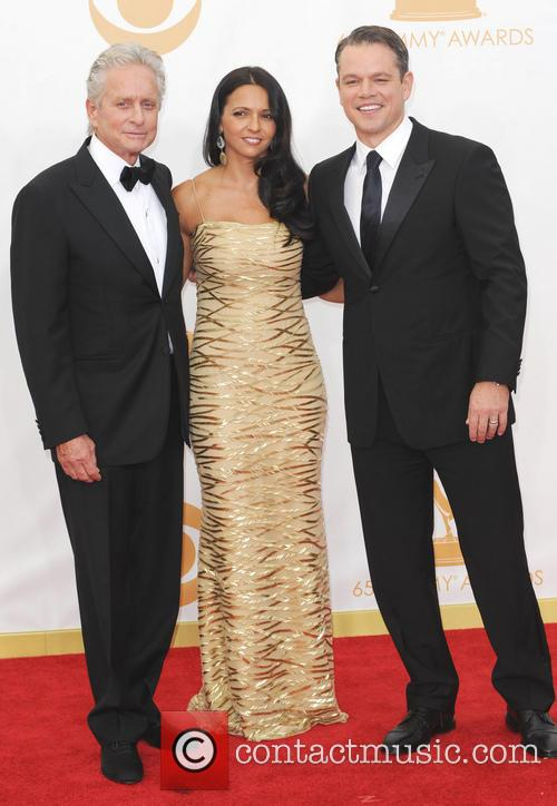 Michael Douglas, Luciana Barroso and Matt Damon 5