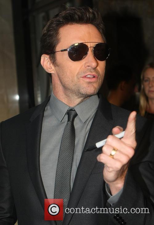 Hugh Jackman leaving his hotel