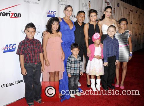 Dania Ramirez, Eva Longoria, Edy Ganem and Kids 2